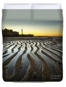 Low Tide On La Caleta Cadiz Spain Duvet Cover
