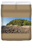 Low Tide Panorama Duvet Cover