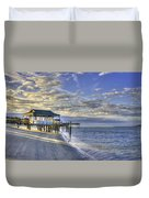 Low Tide Sunrise Tybee Island Duvet Cover