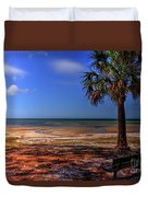 Low Tide Time Duvet Cover