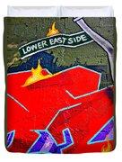 Lower East Side Graffiti  Art  Duvet Cover
