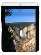 Lower Falls @ Yellowstone National Park Duvet Cover