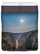 Lower Falls At Artist Point  Duvet Cover