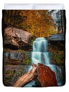 Lower Falls At Kaaterskill Duvet Cover