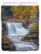 Lower Falls In Autumn Duvet Cover