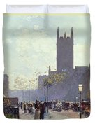 Lower Fifth Avenue Duvet Cover by Childe Hassam