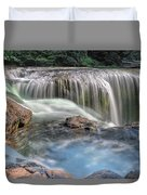 Lower Lewis River Falls Rush Duvet Cover