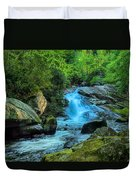Lower Lynn Camp Falls Smoky Mountains Duvet Cover