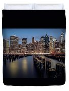 Lower Manhattan Skyline Duvet Cover by Eduard Moldoveanu