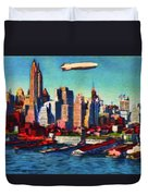 Lower Manhattan Skyline New York City Duvet Cover