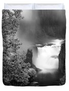 Lower Mesa Falls Duvet Cover