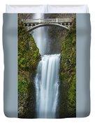 Lower Multnomah Falls Duvet Cover