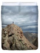Lower North Eolus From The Catwalk Detail - Chicago Basin - Weminuche Wilderness - Colorado Duvet Cover