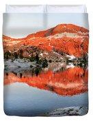 Lower Ottoway Lake Sunset - Yosemite Duvet Cover
