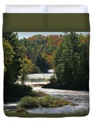 Lower Tahquamenon Falls  4349 Duvet Cover