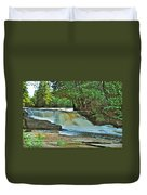 Lower Tahquamenon Falls Duvet Cover
