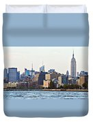 Lower West Side On The Waterfront Duvet Cover