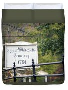 Lower White Hills Cemetery Duvet Cover