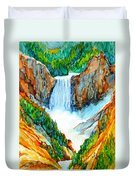 Lower Yellowstone Falls Duvet Cover
