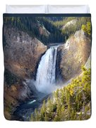 Lower Yellowstone Falls From Inspiration Point Duvet Cover