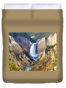 Lower Yellowstone Falls Duvet Cover