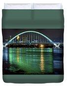 Lowry Bridge In St. Patrick's Day Green Duvet Cover