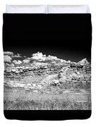 Lowry Pueblo Ruin Black And White Duvet Cover