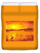 Loxahatchee Sunrise Duvet Cover