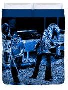 Ls #40 Enhanced In Blue Duvet Cover