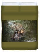 Lu The Homosassa Hippo Duvet Cover