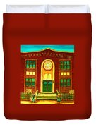 Lubavitch Synagogue Duvet Cover