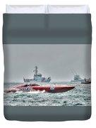 Lucas Oil Superboat Race Duvet Cover