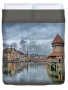 Lucerne Chapel Bridge Duvet Cover