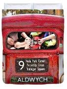 Lucha Bus London Duvet Cover