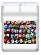 Lucha Libre Wrestling Masks Duvet Cover