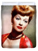 Lucille Ball, Vintage Actress Duvet Cover