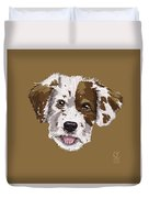 Lucky Brown Mixed Breed Duvet Cover