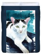 Lucky Elvis - Cat Portrait Duvet Cover