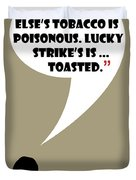 Lucky's Tobacco - Mad Men Poster Don Draper Quote Duvet Cover