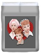 Lucy Expressions Gry Duvet Cover