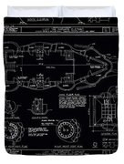 Lucy The Elephant Building Patent Blueprint 3 Duvet Cover
