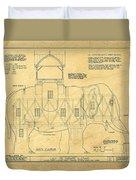 Lucy The Elephant Building Patent Blueprint  Duvet Cover