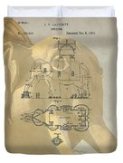 Lucy The Elephant Building Patent Duvet Cover
