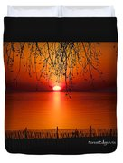 Ludington Sunset April 2016 Duvet Cover