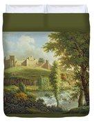 Ludlow Castle With Dinham Weir Duvet Cover