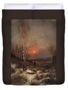 Ludwig Deutsch, Hunting In The Winter Duvet Cover