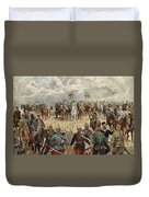 Ludwig Koch, Franz Josef I And Wilhelm II With Military Commanders During Wwi Duvet Cover