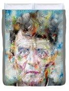 Ludwig Wittgenstein - Watercolor Portrait.2 Duvet Cover