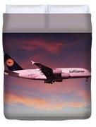 Lufthansa Airbus A380 D-aimh Duvet Cover
