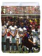 Luis Suarez Hits The Post Duvet Cover